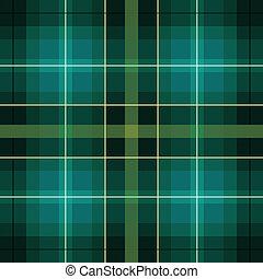 vert, écossais, noir, modèle