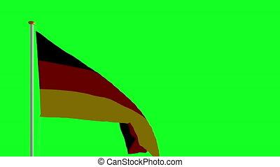 vert, écran, drapeau allemagne