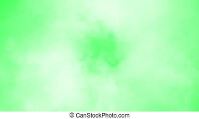 vert, écran, nuages
