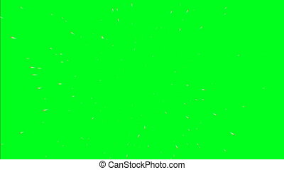 vert, écran, voler, par, étoiles