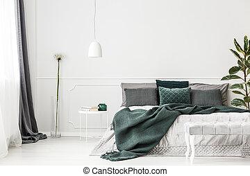 bedding gris murs wiht chambre coucher blanc vert. Black Bedroom Furniture Sets. Home Design Ideas