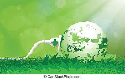 vert, énergie, bouchon