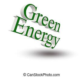 vert, énergie, concept