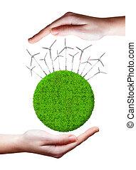 vert, énergie, concepts