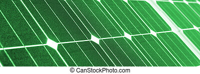 vert, énergie, vert, panneau solaire