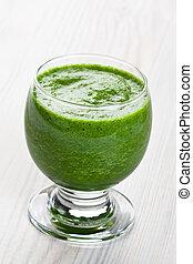 vert, épinards, smoothie