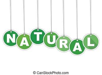 vert, étiquette, naturel