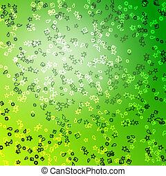 vert, étoile, arrière-plan.