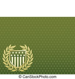 vert, étoile, bouclier, or, fond