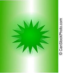 vert, étoile