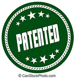 vert, 5, étoile, timbre, à, breveté, .