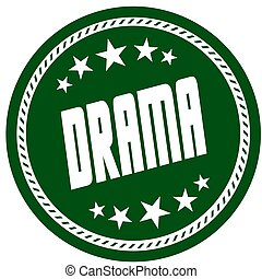 vert, 5, étoile, timbre, à, drame, .