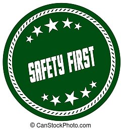 vert, 5, étoile, timbre, à, sûreté abord, .