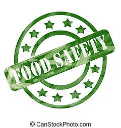 vert, a mûri, sûreté nourriture, timbre, cercles, et, étoiles