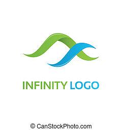 vert-bleu, infinité, gabarit, logo