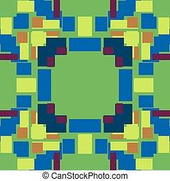 vert bleu, pixel, fond