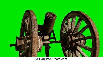 vert, bois, chromakey, retro, canon, fond