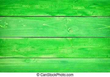 vert, bois, planche, fond
