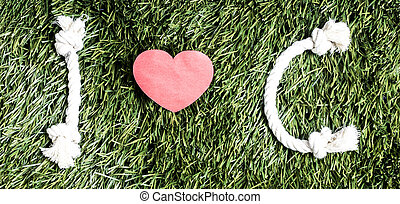 vert, c, herbe, amour, fond