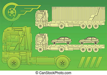 vert, caravane