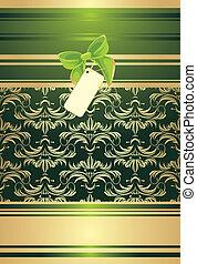 vert, card., fond, arc