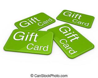 vert, carte don, 3d
