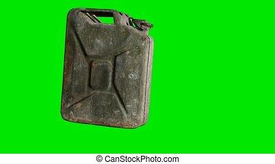 vert, chromakey, essence, boîte métallique, fond, vieux, rouillé