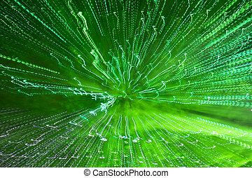 vert clair, exposition, piste, long, photographie