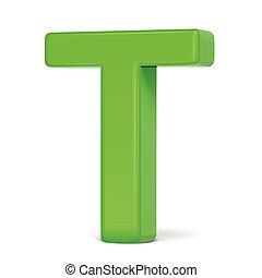 vert clair, t, lettre, 3d