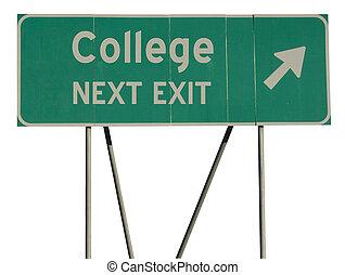 vert, collège, panneaux signalisations