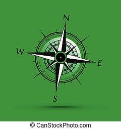 vert, compas