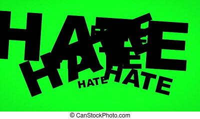 vert, concept, amour, haine, écran