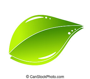 vert, concept, feuille, nature