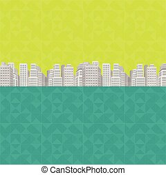 vert, conception, grande ville