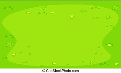 vert, coquilles, fond, etoile mer