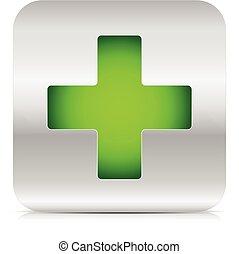 vert, croix
