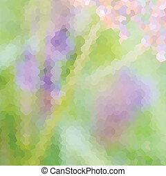vert, defocused, fond