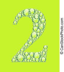 vert, deux, bulles