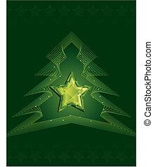 vert, diamant, étoile, noël