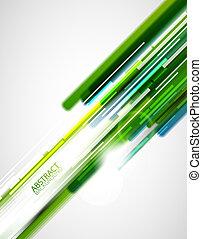 vert, directement, lignes, fond
