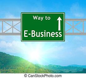 vert, e-affaires, panneaux signalisations
