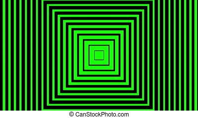 vert, en mouvement, fond, carrés