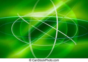 vert, flash, sphère, lumière