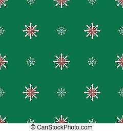 vert, flocons neige, fond