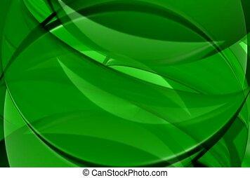 vert, fluide, chevauchement