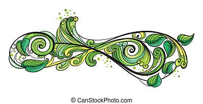 vert, frontière, créatif