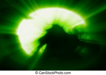vert, globe, lumière instantanée