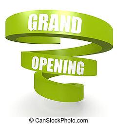 vert, grandiose, bannière, hélix, ouverture
