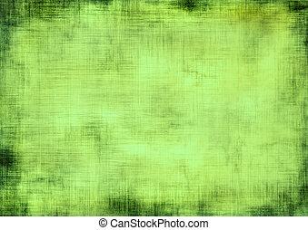 vert, grunge, fond