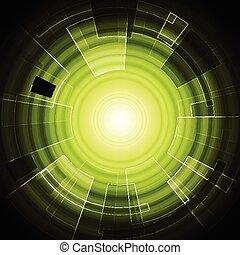 vert, high-tech, fond